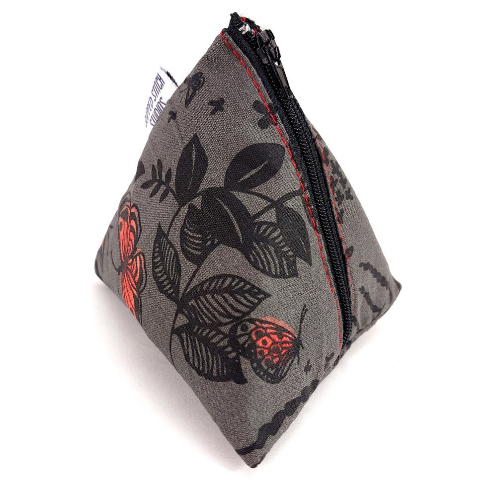 Midnight Garden </br> Triangle Zipper Notion Pouch:Triangle Zipper Notion Pouch,Slipped Stitch Studios:Slipped Stitch Studios