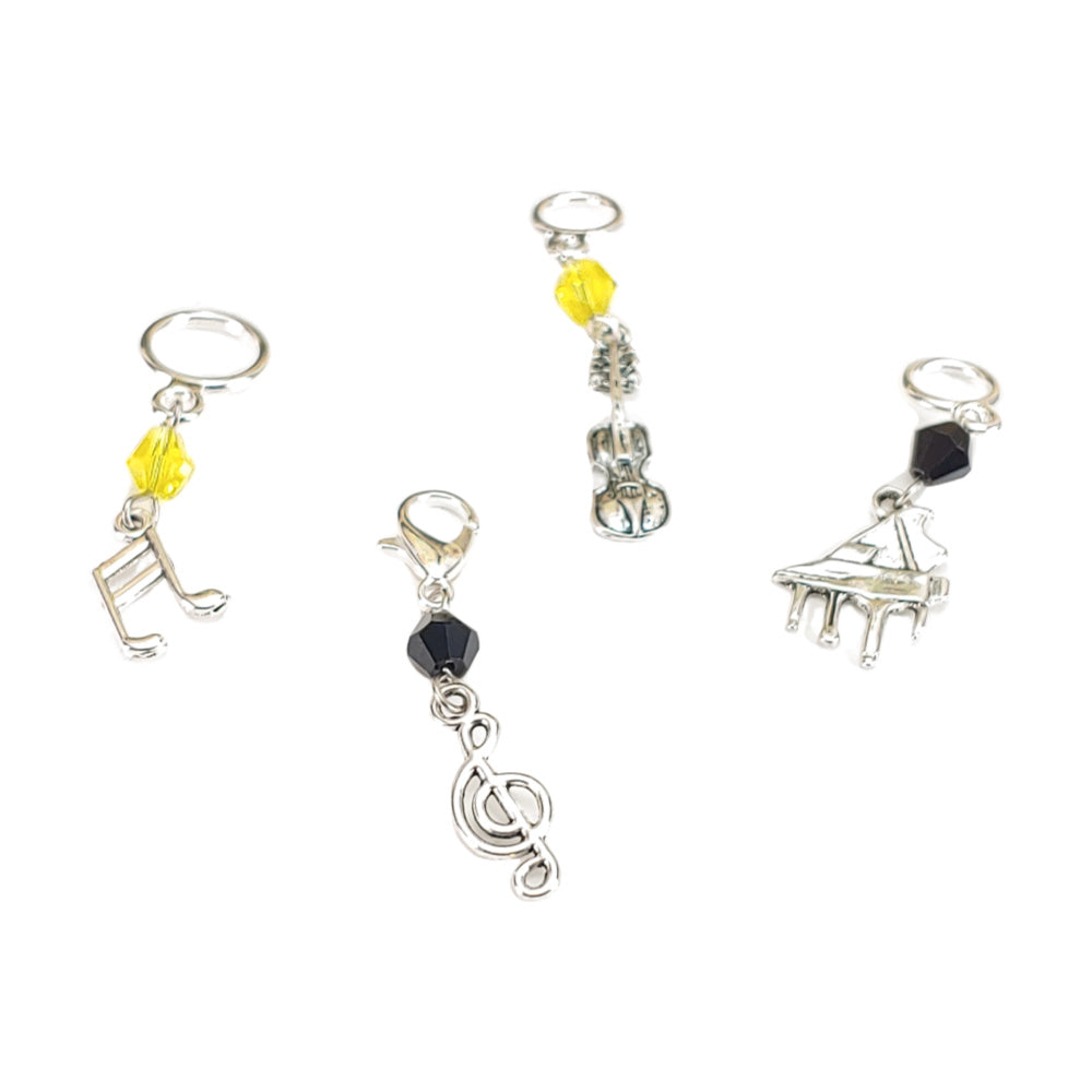 The Art of Sound </br> Choose Single or Set of 4:Stitch Markers,Slipped Stitch Studios:Slipped Stitch Studios