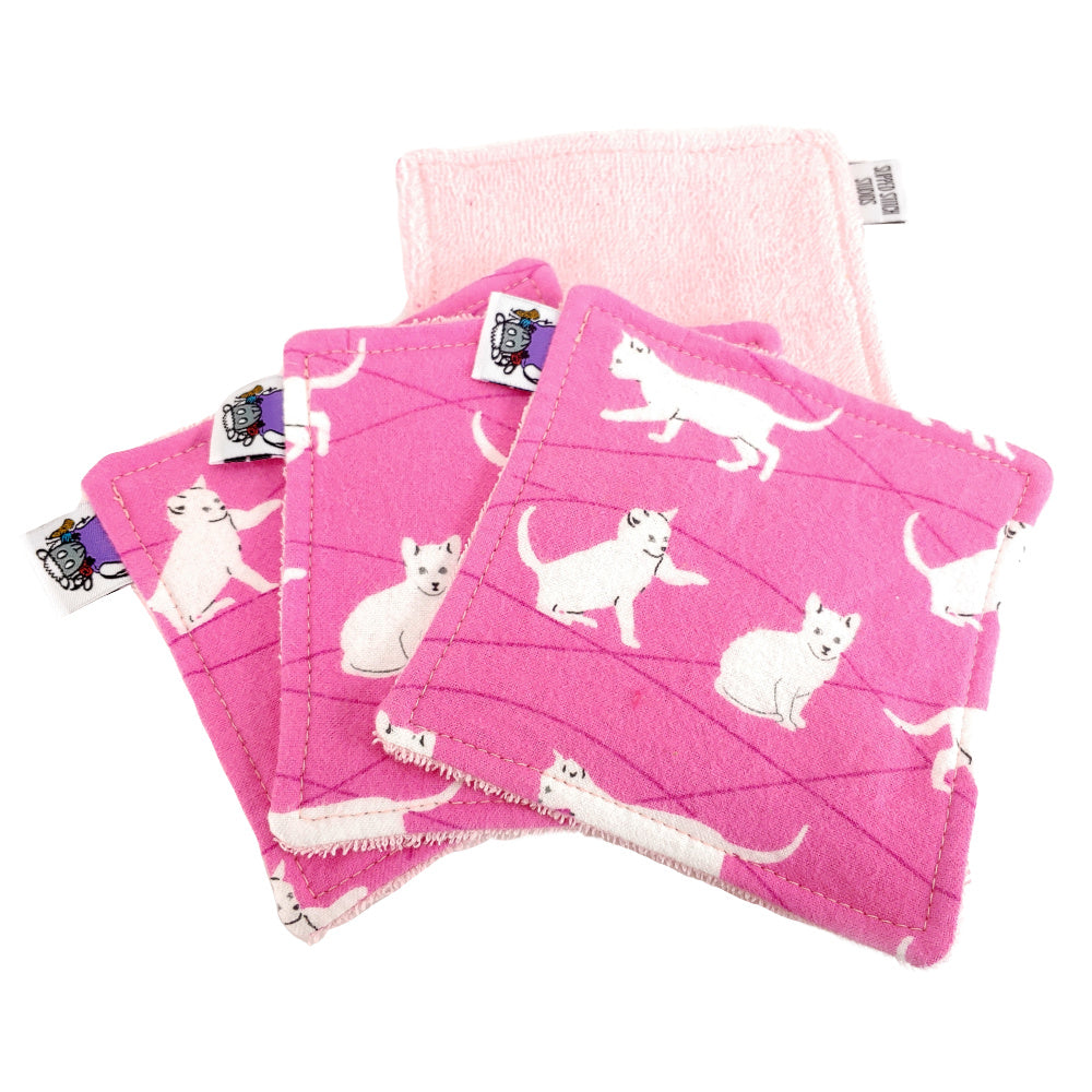 Flannel Kitties - Victory Rags (Towelette) - Pack of 2 or 4:Sets,Slipped Stitch Studios:Slipped Stitch Studios