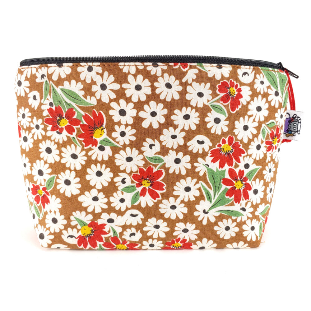 Black Eyed Susan </br> Zipper Notion Pouch:Zipper Notion Pouch,Slipped Stitch Studios:Slipped Stitch Studios