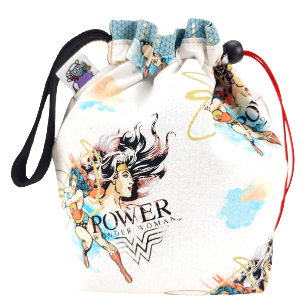 Wonder Woman Power </br> Small Project Bag:Small Project Bag,Slipped Stitch Studios:Slipped Stitch Studios