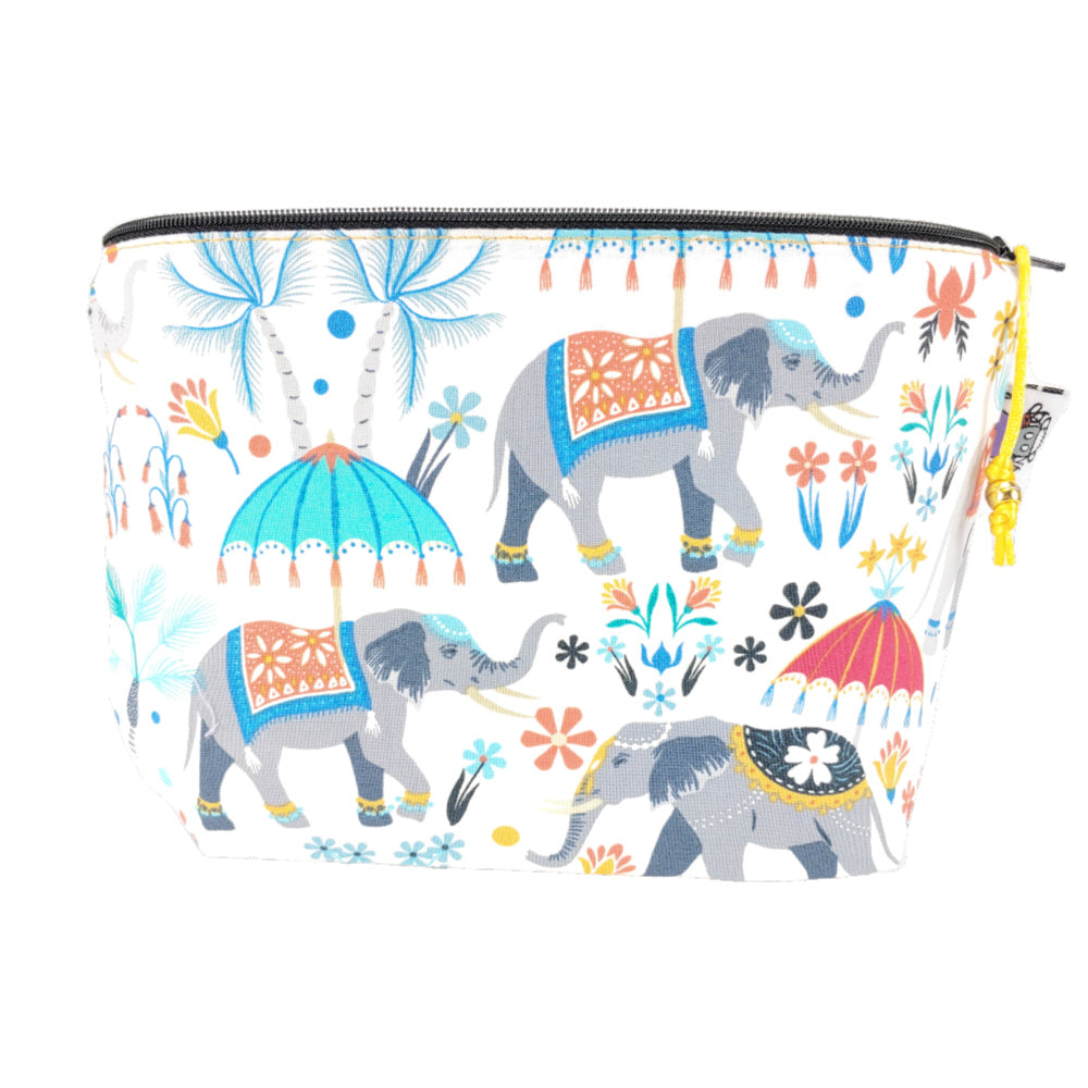 Elephants on Parade </br> Zipper Notion Pouch:Zipper Notion Pouch,Slipped Stitch Studios:Slipped Stitch Studios