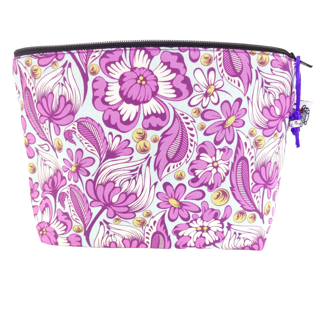 Tululah Flowers </br> Zipper Notion Pouch:Zipper Notion Pouch,Slipped Stitch Studios:Slipped Stitch Studios