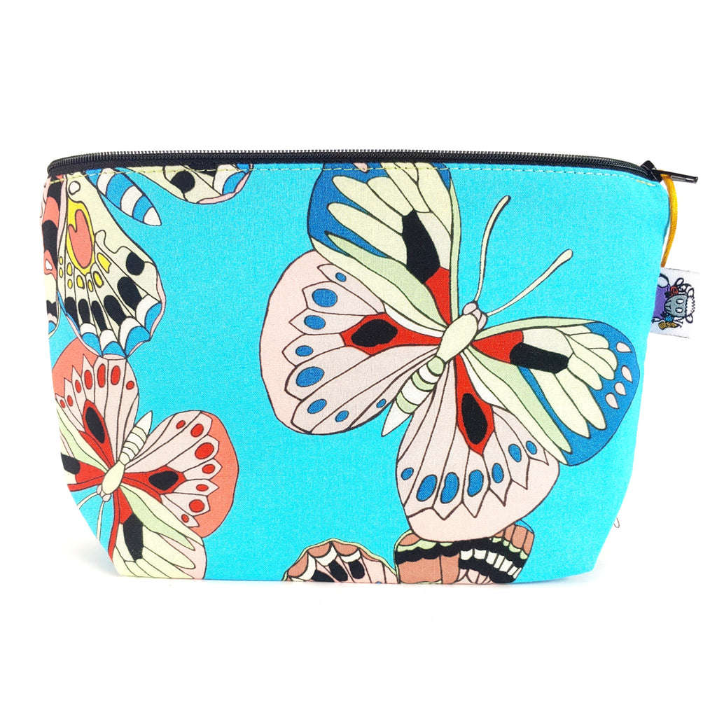 Colorful Wings </br> Zipper Notion Pouch:Zipper Notion Pouch,Slipped Stitch Studios:Slipped Stitch Studios
