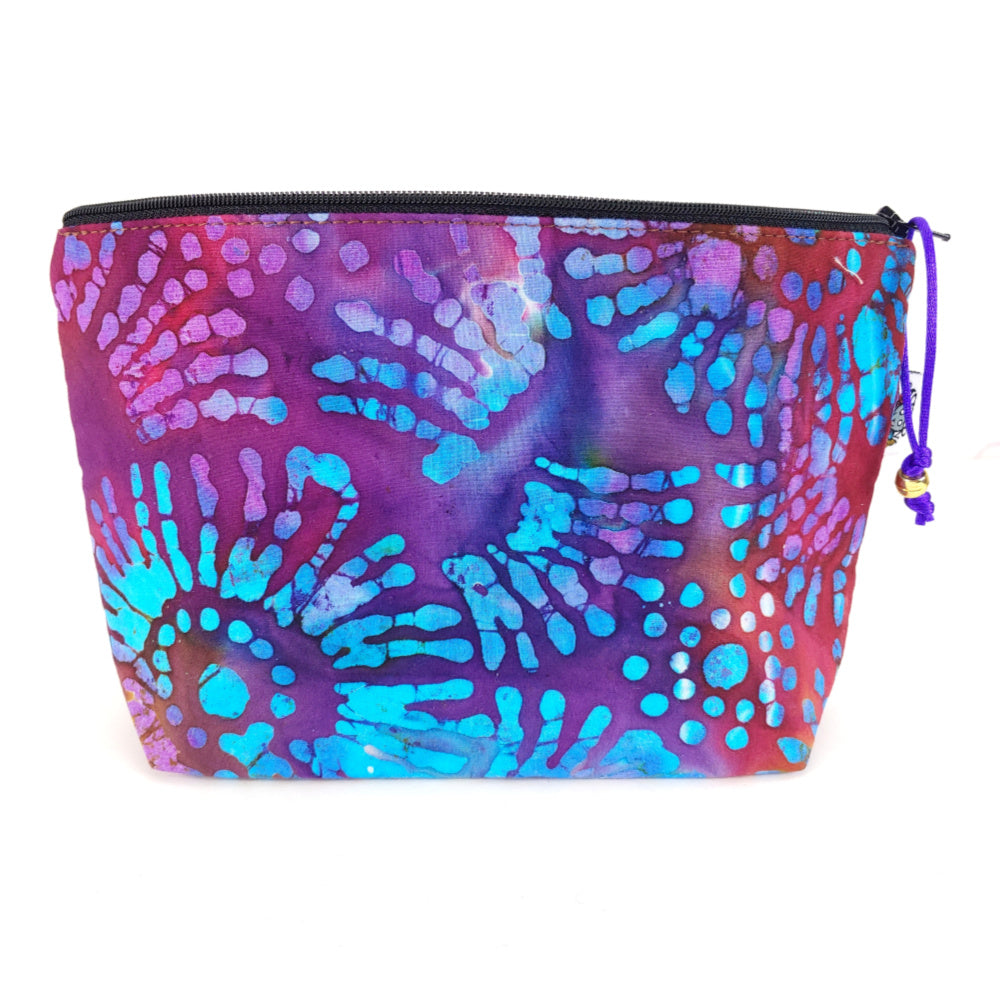 Tie-Dye Batik </br> Zipper Notion Pouch:Zipper Notion Pouch,Slipped Stitch Studios:Slipped Stitch Studios
