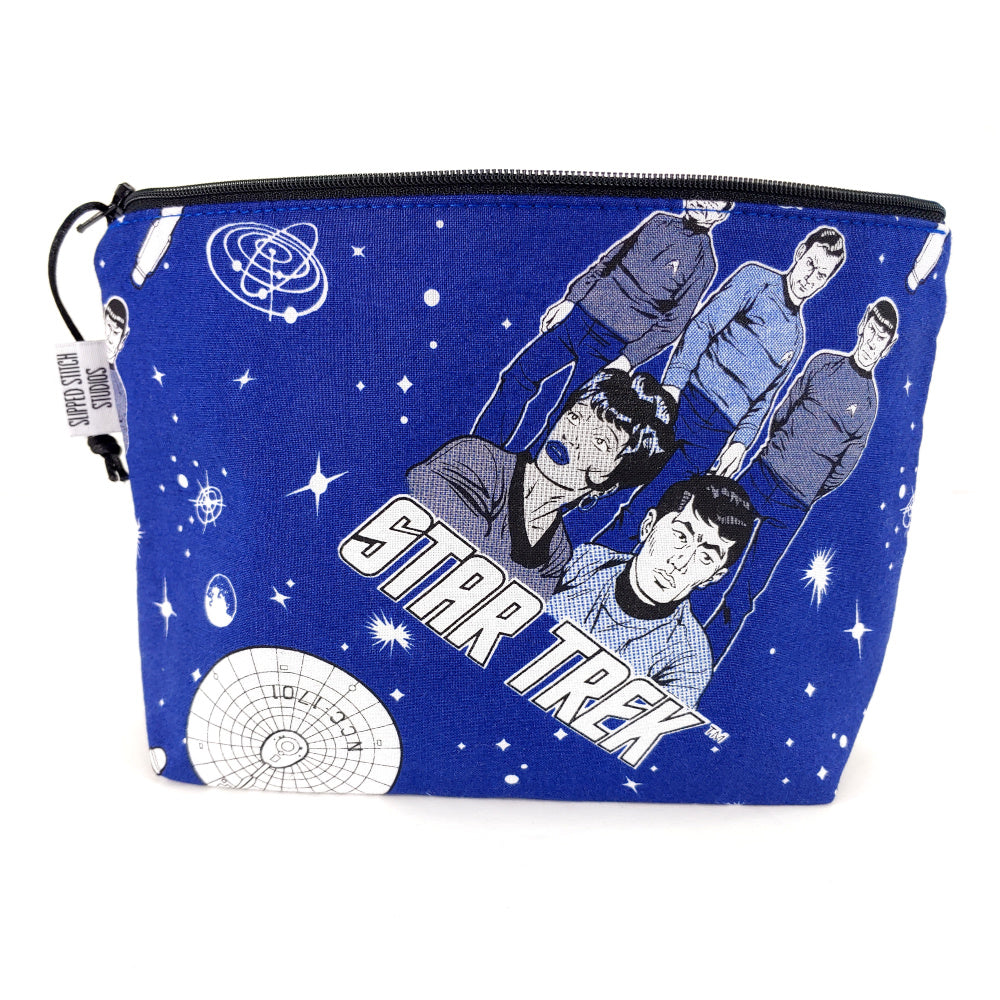 Star Trek: Final Frontier </br> Zipper Notion Pouch:Zipper Notion Pouch,Slipped Stitch Studios:Slipped Stitch Studios