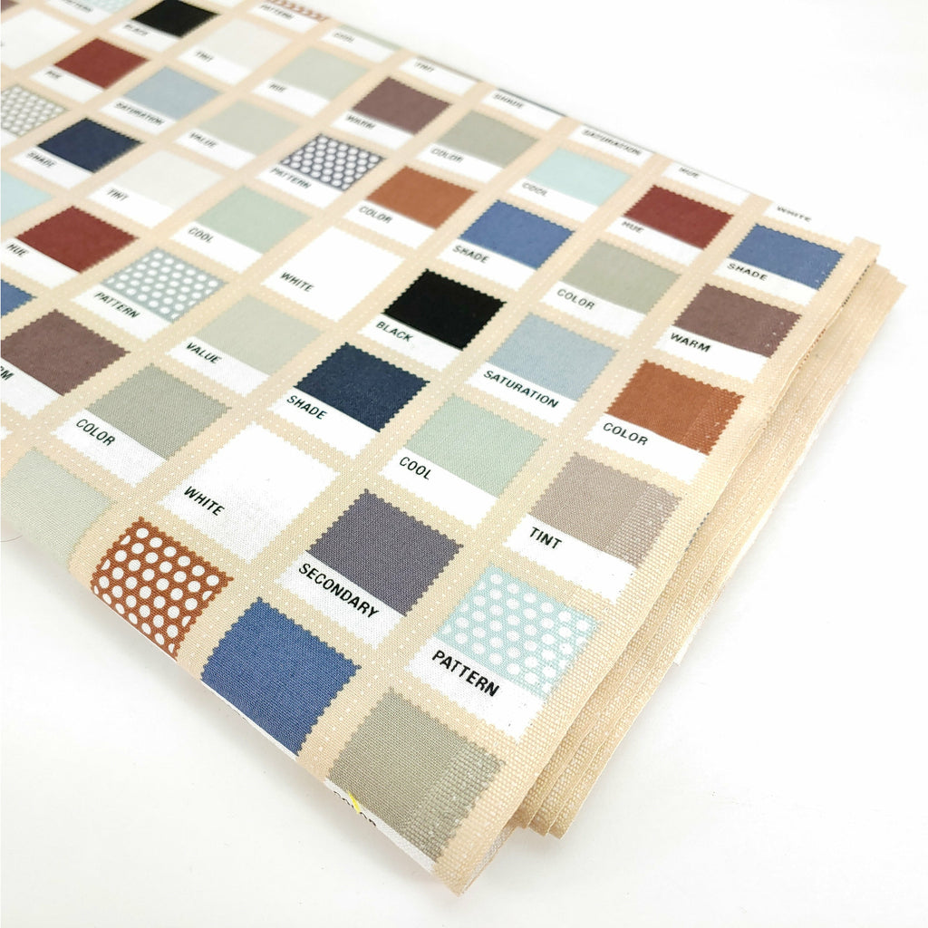 Color Swatches (on tan) </br> Designer Fabric - By the Yard