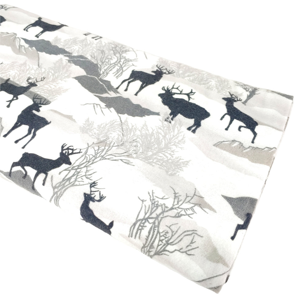 Deer (flannel) </br> Designer Fabric - By the Yard