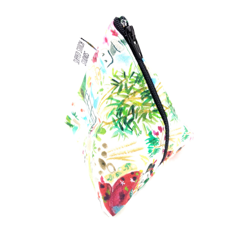 Kyoto Garden </br> Triangle Zipper Notion Pouch