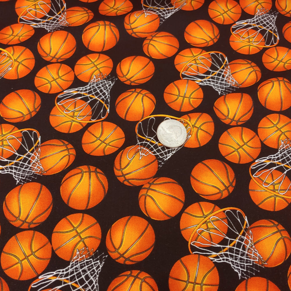 Basketball </br> Designer Fabric - By the Yard