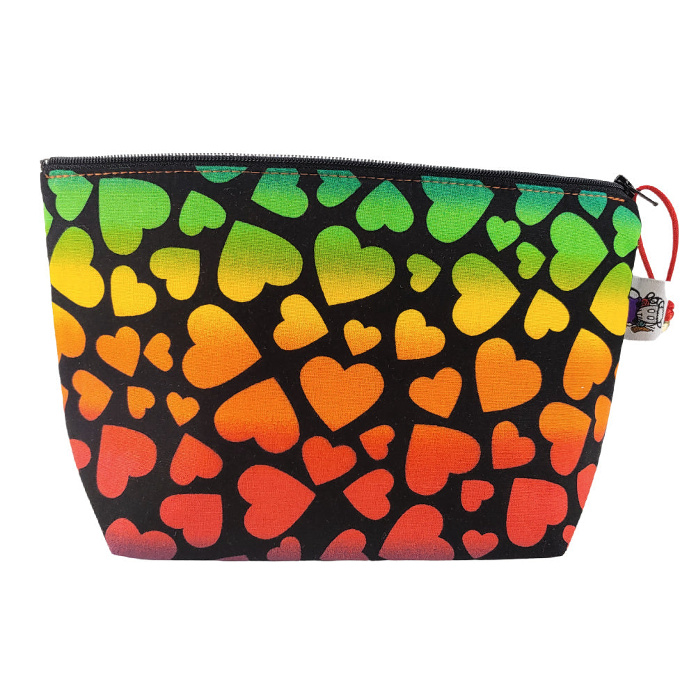 Rainbow Hearts </br> Zipper Notion Pouch