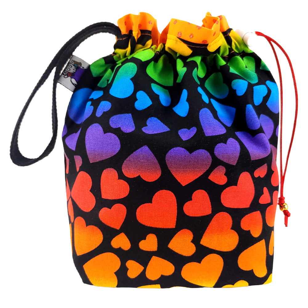 Rainbow Hearts </br> Small Project Bag