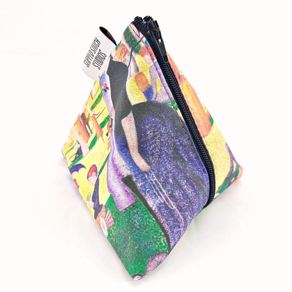 A Sunday Afternoon on the Island of La Grande Jatte </br> Triangle Zipper Notion Pouch