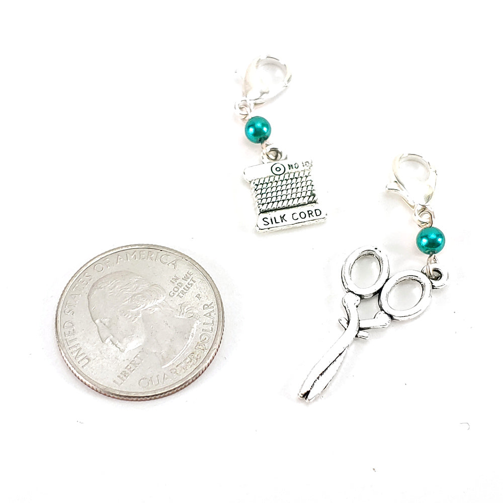 Sew What Now - Choice of Spool or Scissors </br> Stitch Marker (Single)