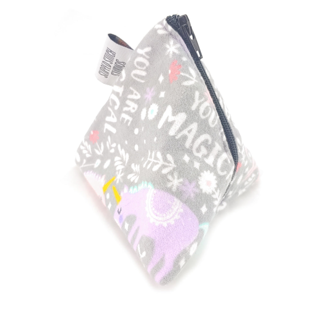 Sparkle Like a Unicorn </br> Triangle Zipper Notion Pouch