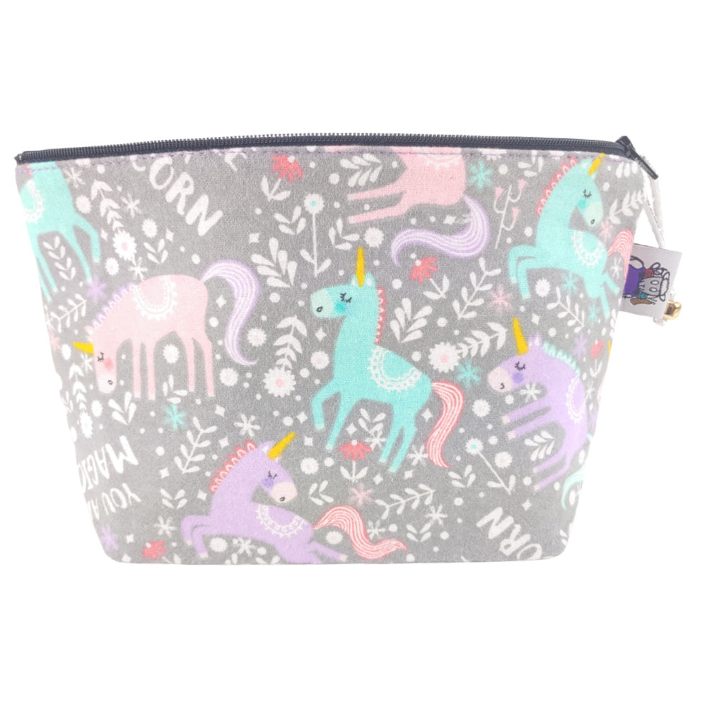 Sparkle Like a Unicorn (Flannel) </br> Zipper Notion Pouch