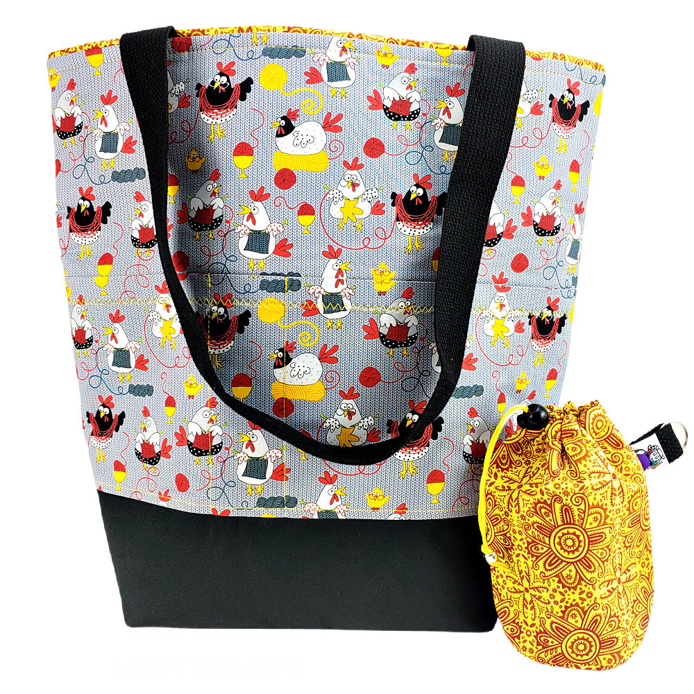 Chicks With Sticks </br> XL Project Bag </br> Studio Tote & Tot
