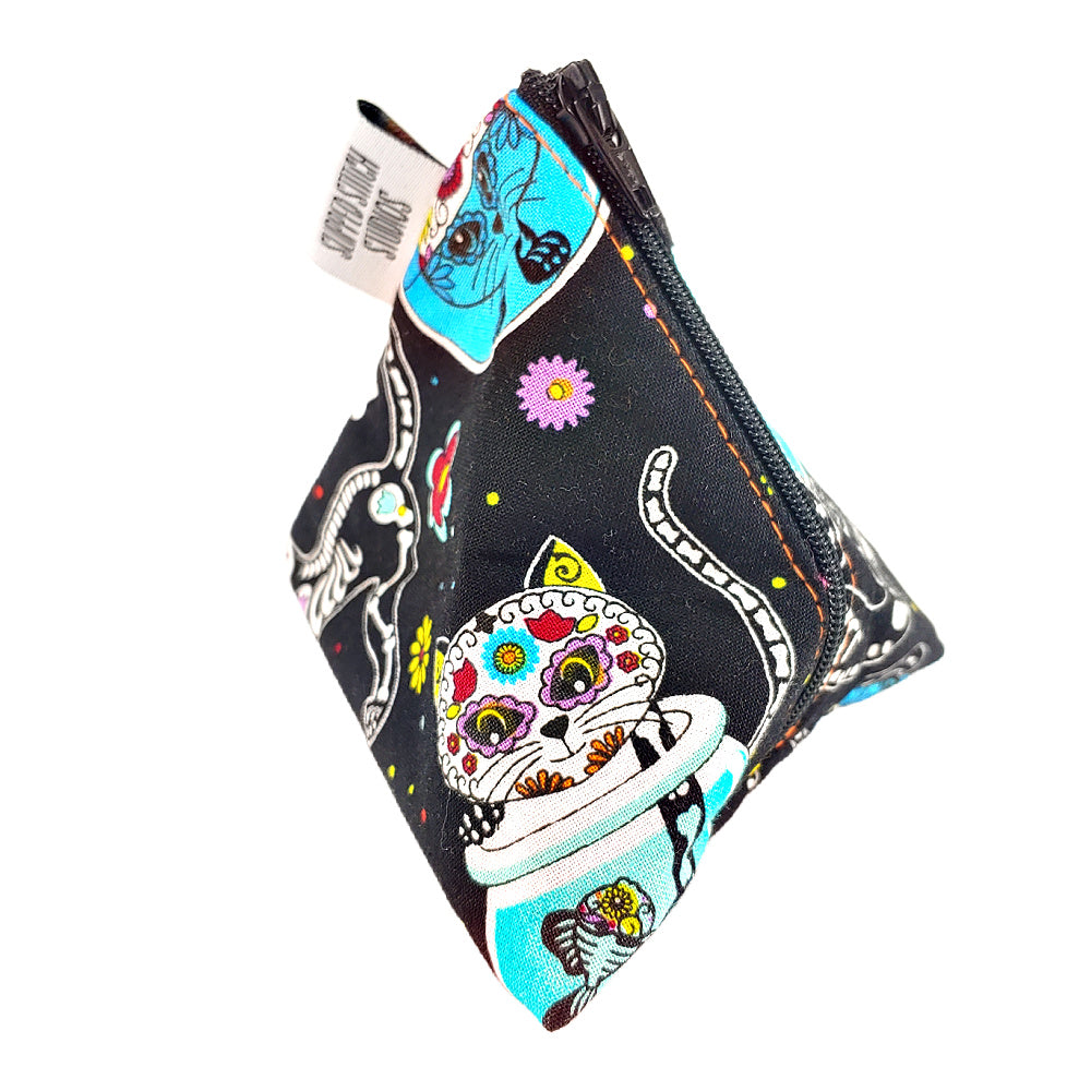 Kitty Los Muertos </br> Triangle Zipper Notion Pouch