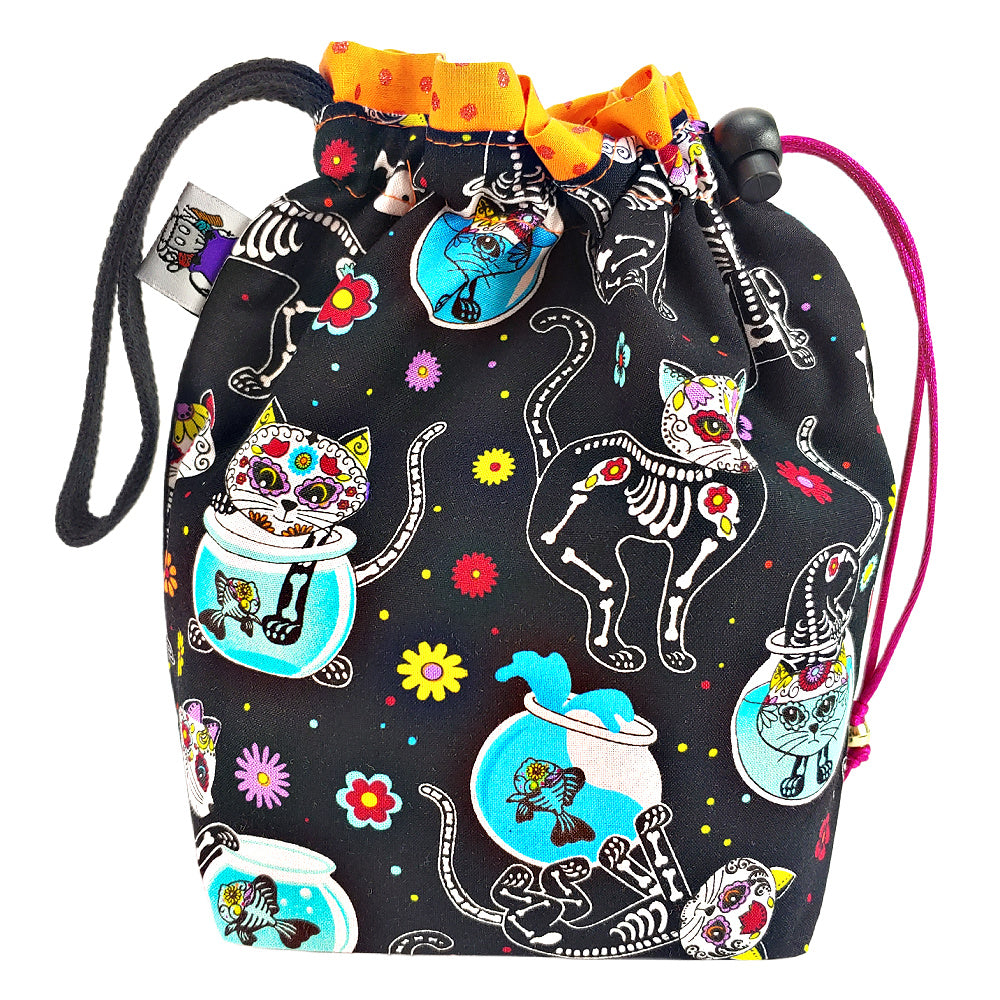 Kitty Los Muertos </br> Small Project Bag