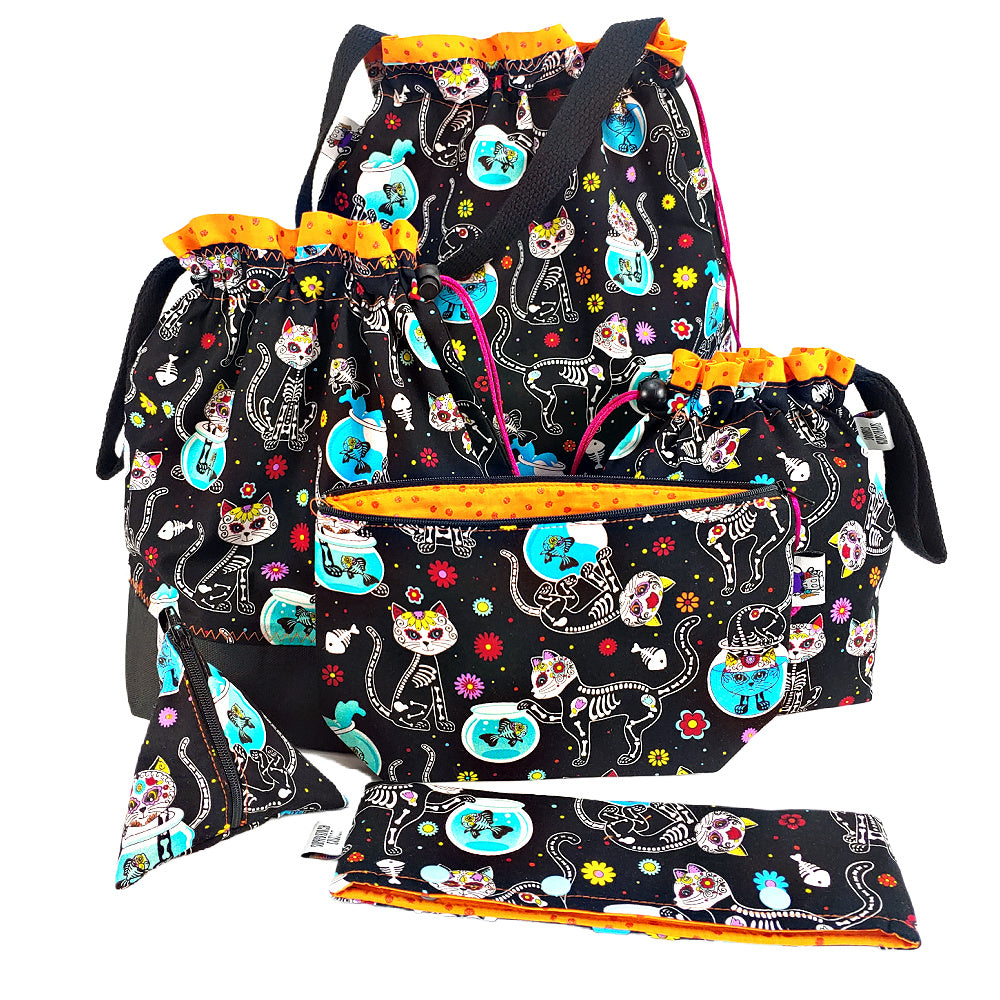Kitty Los Muertos </br> Zipper Notion Pouch