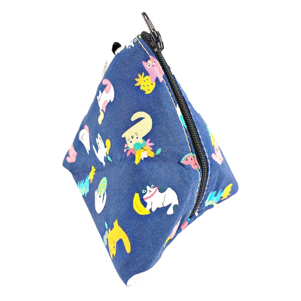 Mellon Cats </br> Triangle Zipper Notion Pouch