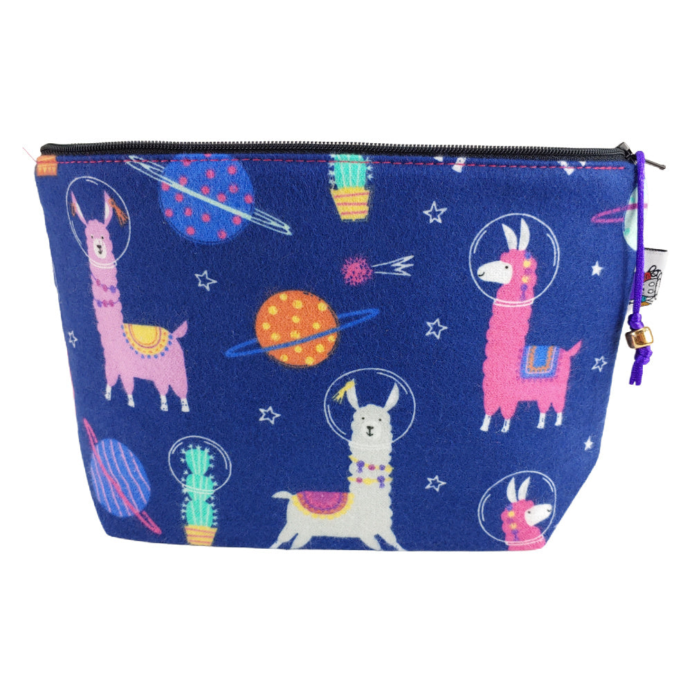 Alpaca My Space Suit (Flannel) </br> Zipper Notion Pouch