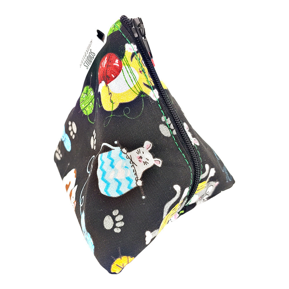 Colorful Kitties </br> Triangle Zipper Notion Pouch