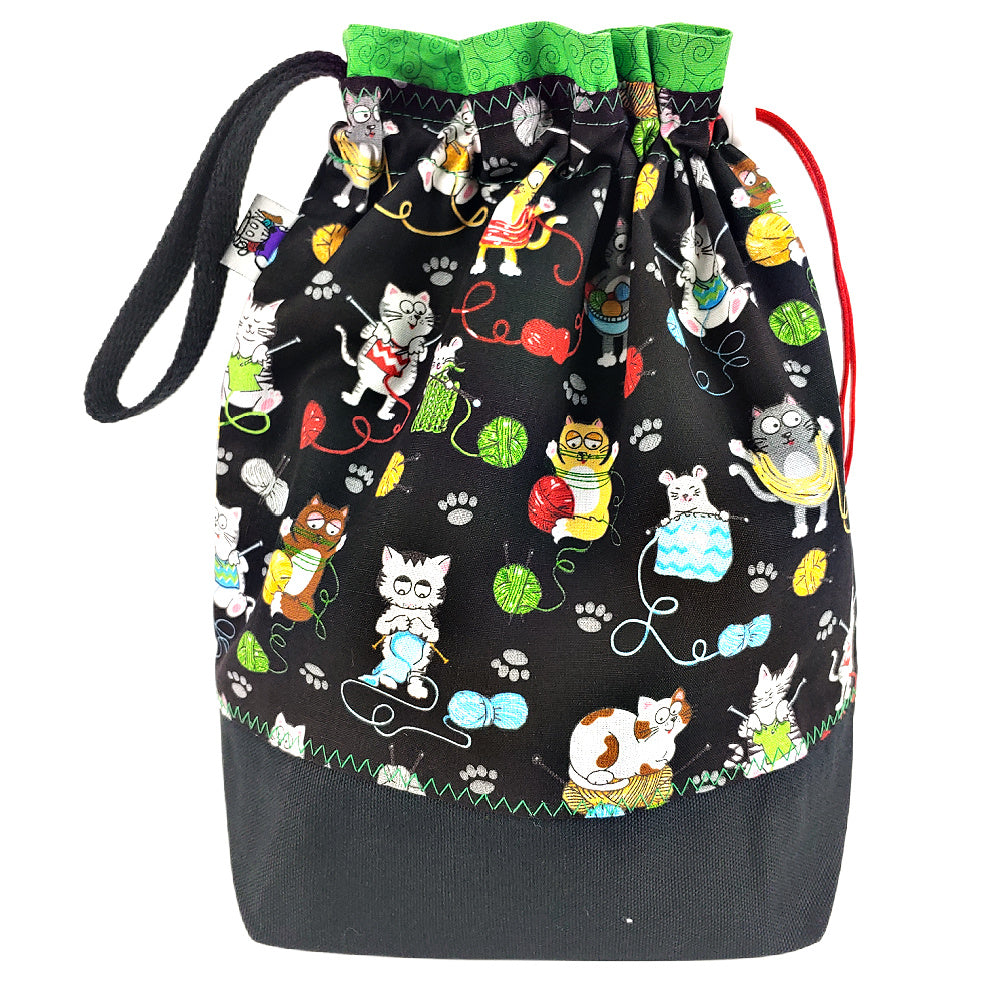 Colorful Kitties </br> Medium Project Bag