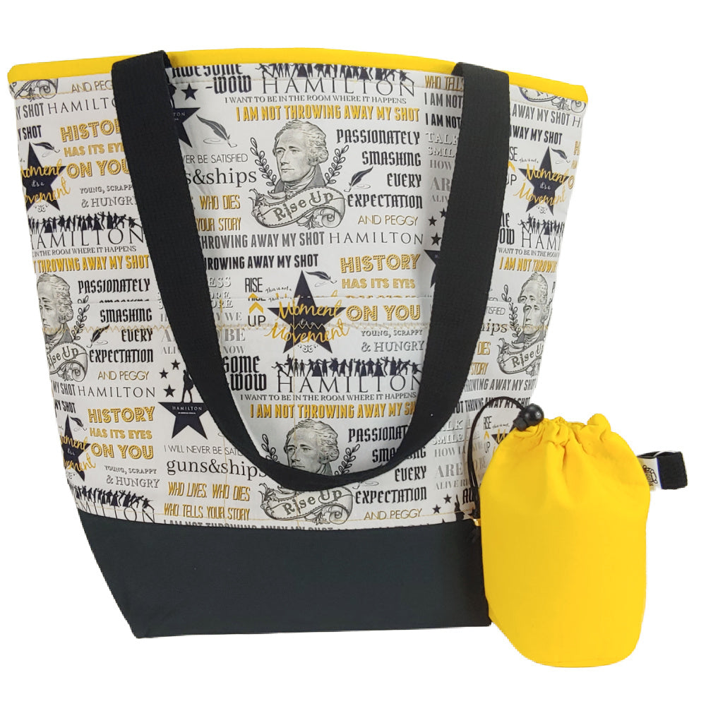 Hamilton the Musical </br> XL Project Bag </br> Studio Tote & Tot