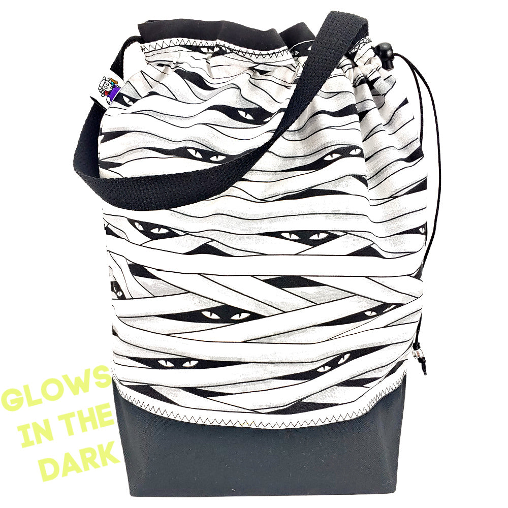 Glow-in-the-Dark Mummy </br> Large Project Bag