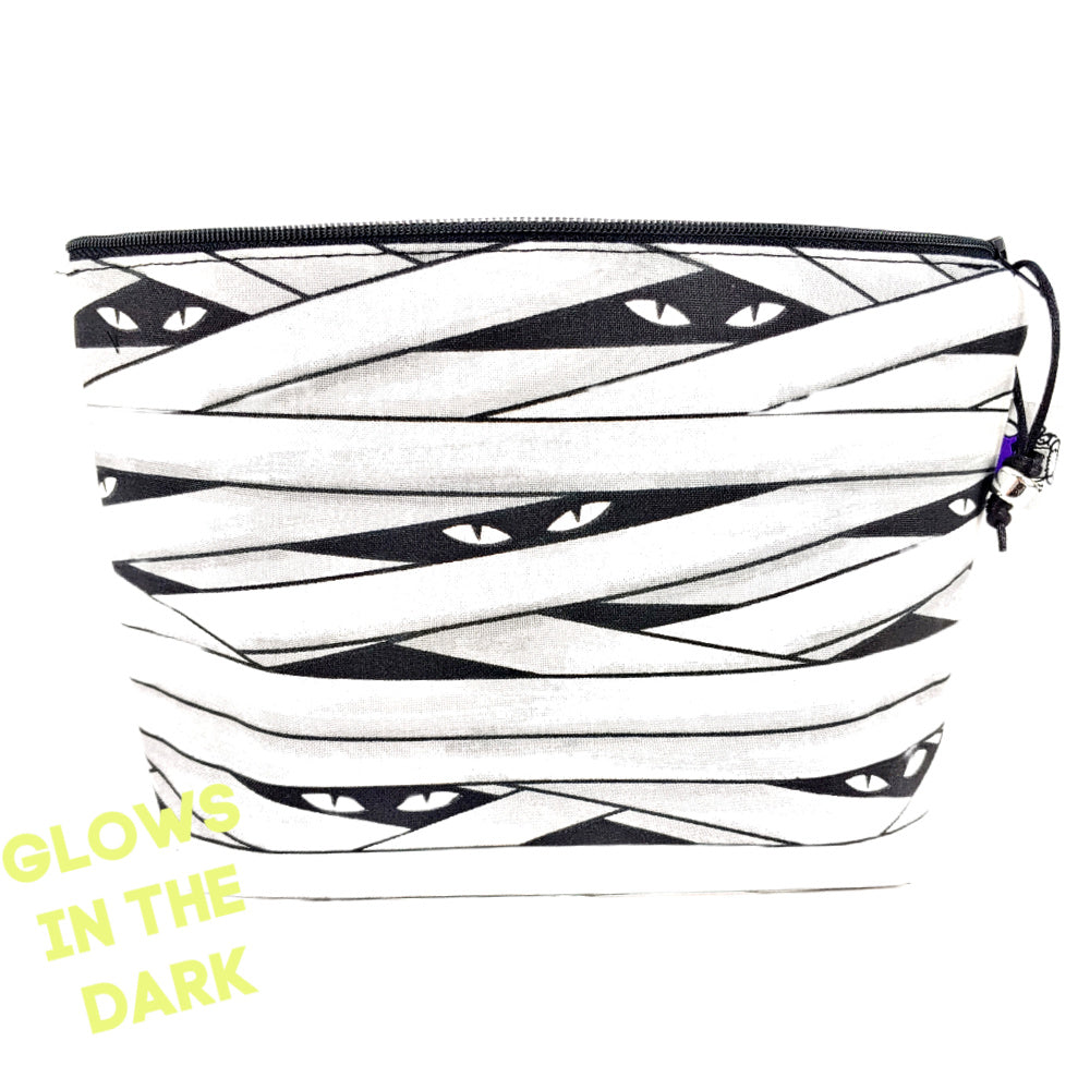 Glow-in-the-Dark Mummy </br> Zipper Notion Pouch