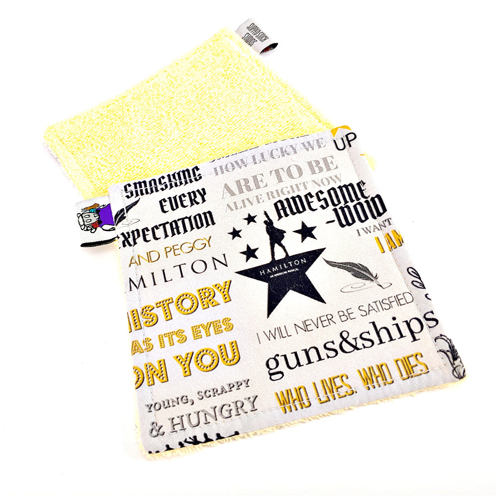 "Hamilton the Musical - Victory Rags (Towelette, 5"" x 5"") - Pack of 2 or 4"