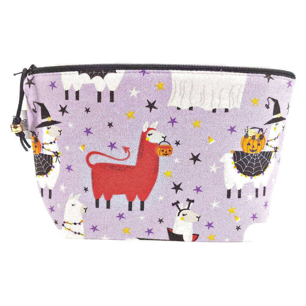 Scary Llama (Flannel) </br> Zipper Notion Pouch