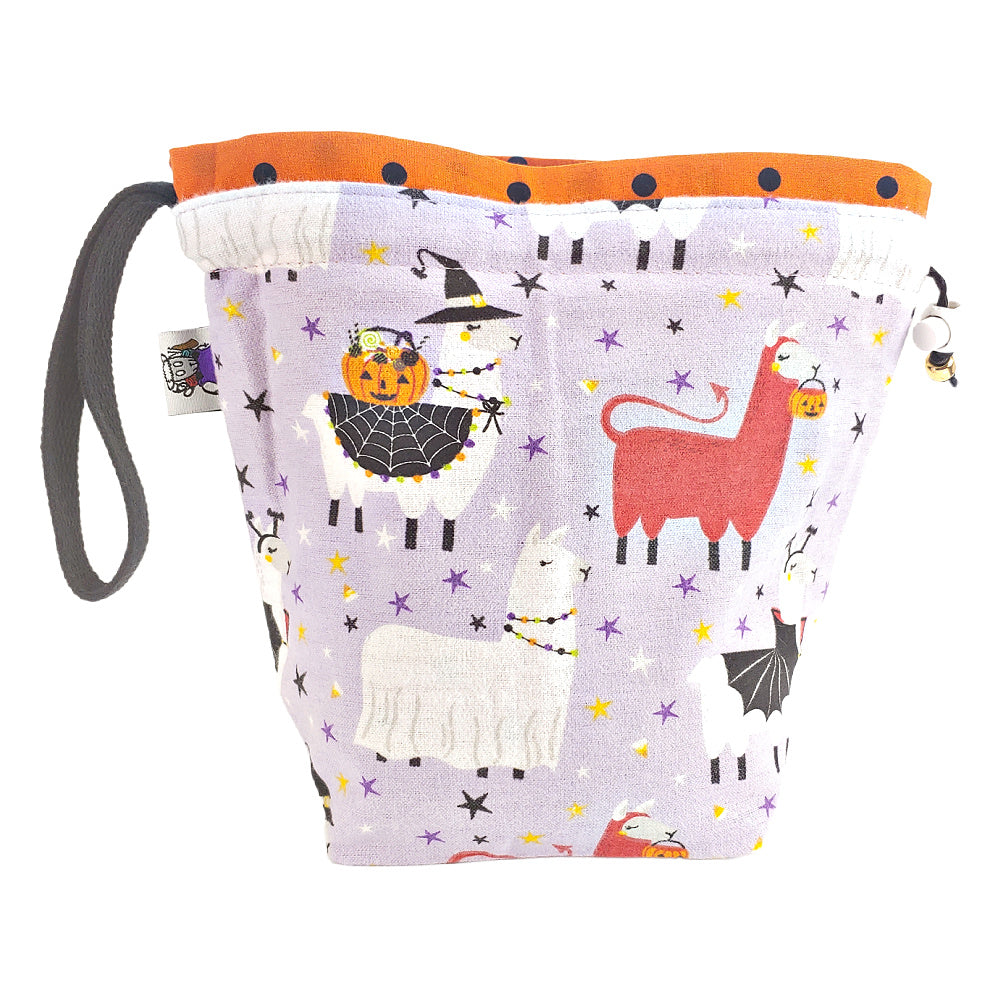 Scary Llama (Flannel) </br> Small Project Bag