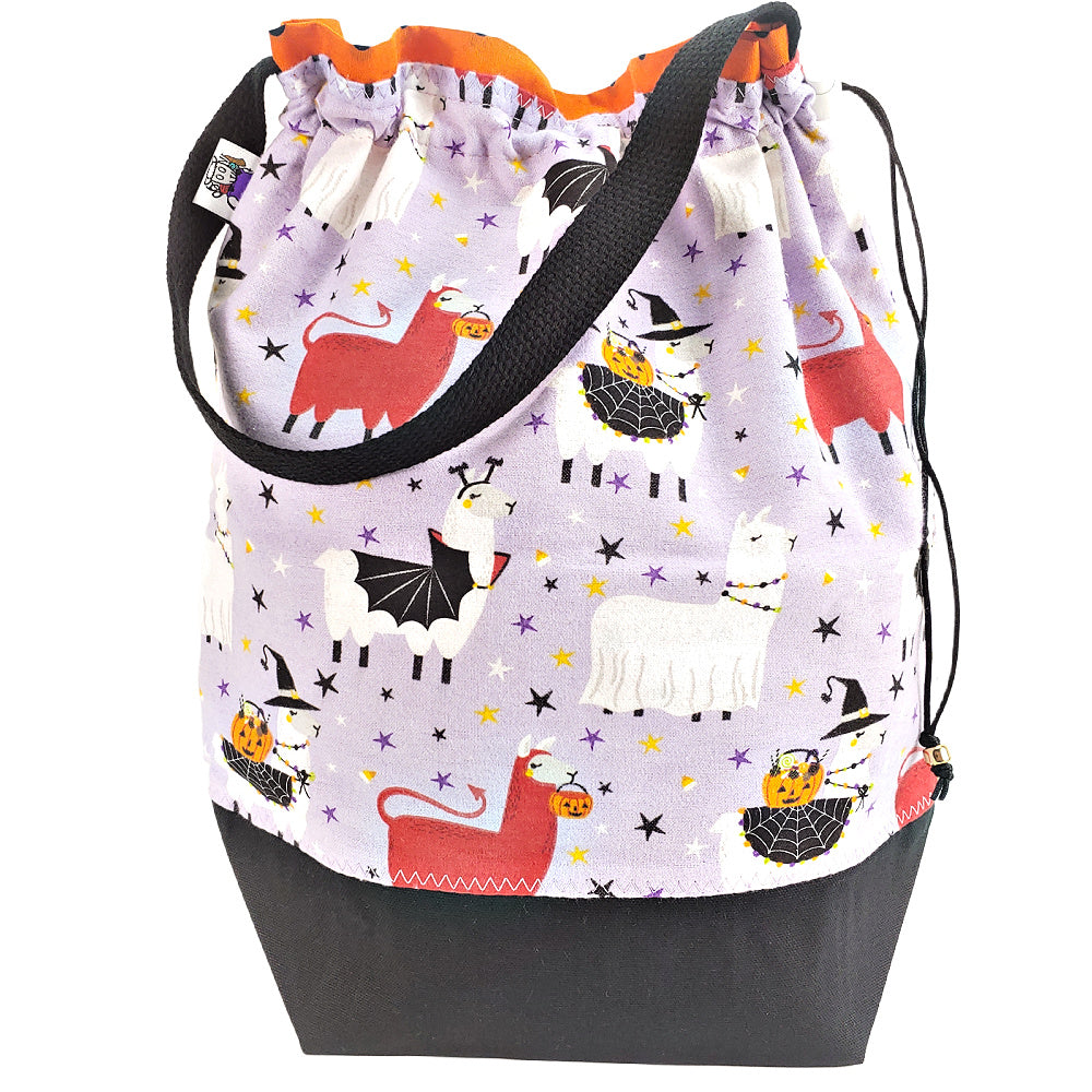 Scary Llama (Flannel) </br> Large Project Bag
