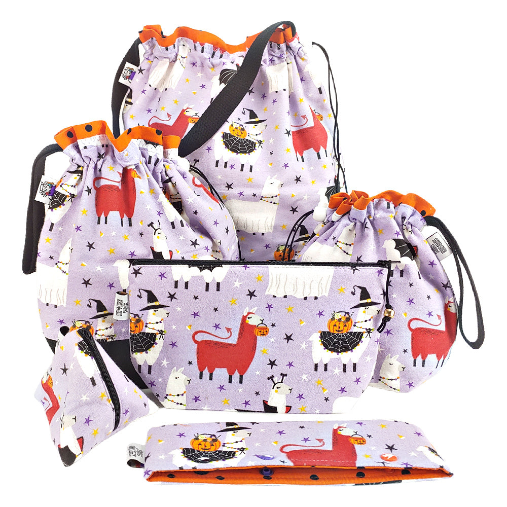 Scary Llama (Flannel) </br> Triangle Zipper Notion Pouch