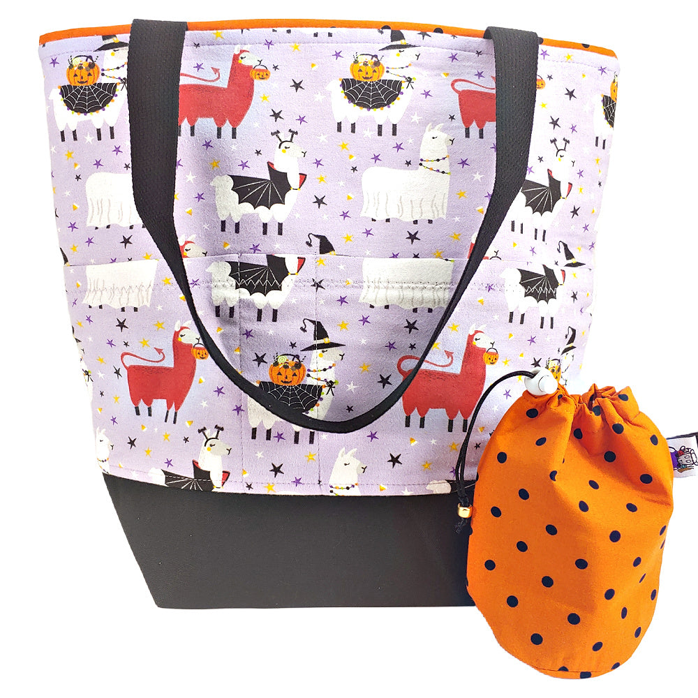 Scary Llama (Flannel) </br> XL Project Bag </br> Studio Tote & Tot