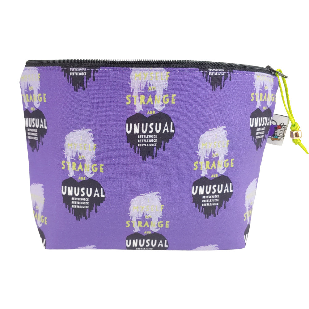 Strange and Unusual (purple) </br> Zipper Notion Pouch