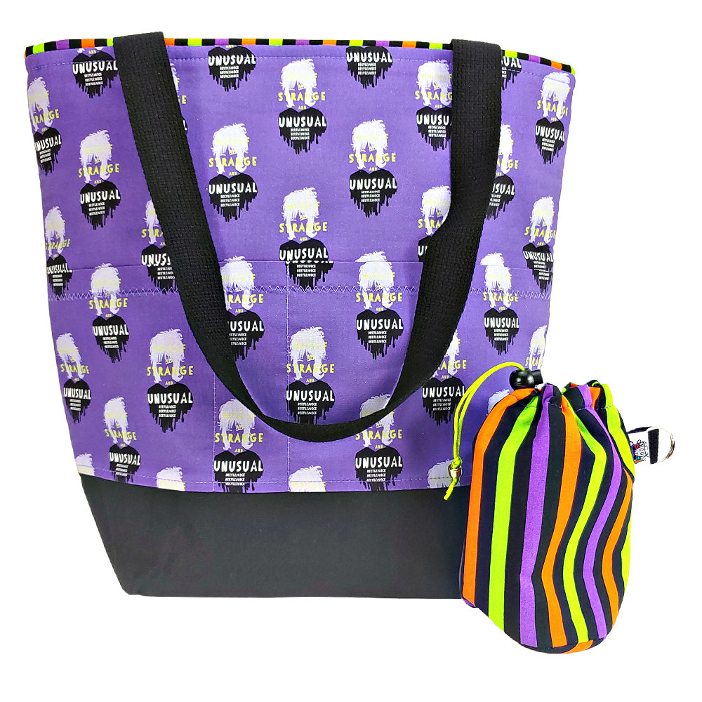 Strange and Unusual (purple) </br> XL Project Bag </br> Studio Tote & Tot