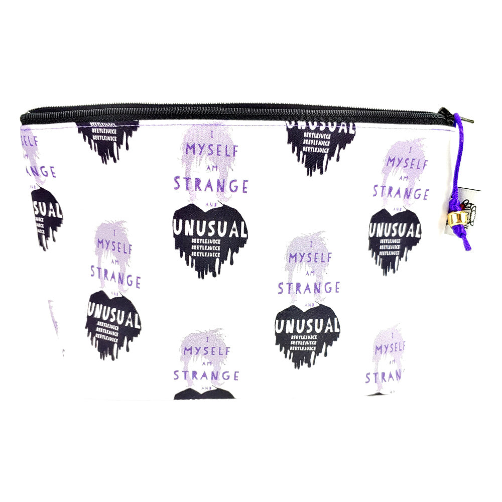Strange and Unusual (white) </br> Zipper Notion Pouch