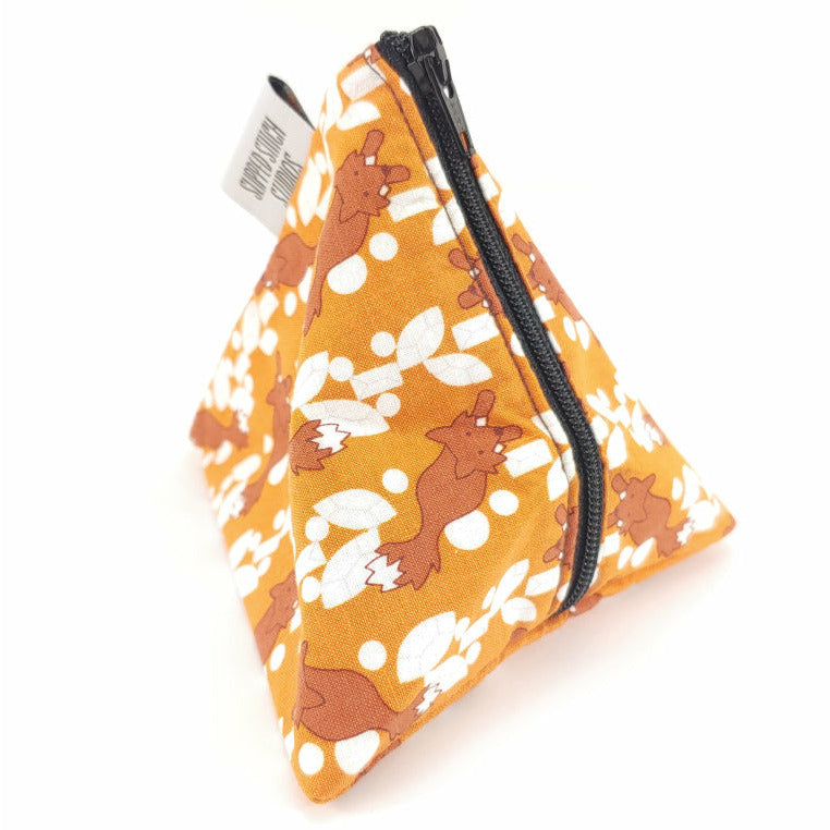 Feelin' Foxy </br> Triangle Zipper Notion Pouch