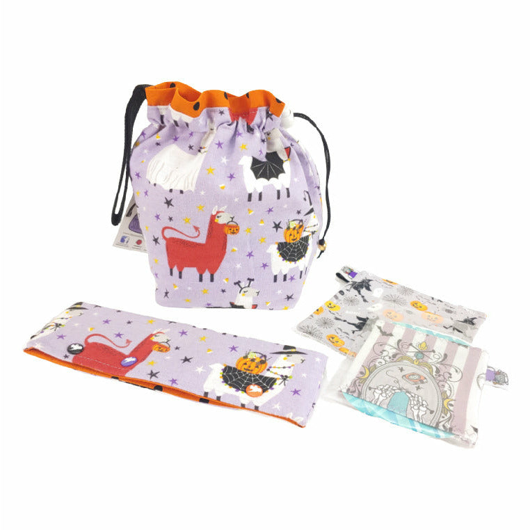 Scary Llama and Friends (flannel) - Set of 4