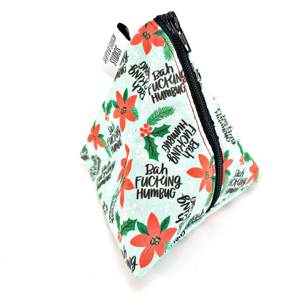 Bah F*ing Humbug </br> Triangle Zipper Notion Pouch
