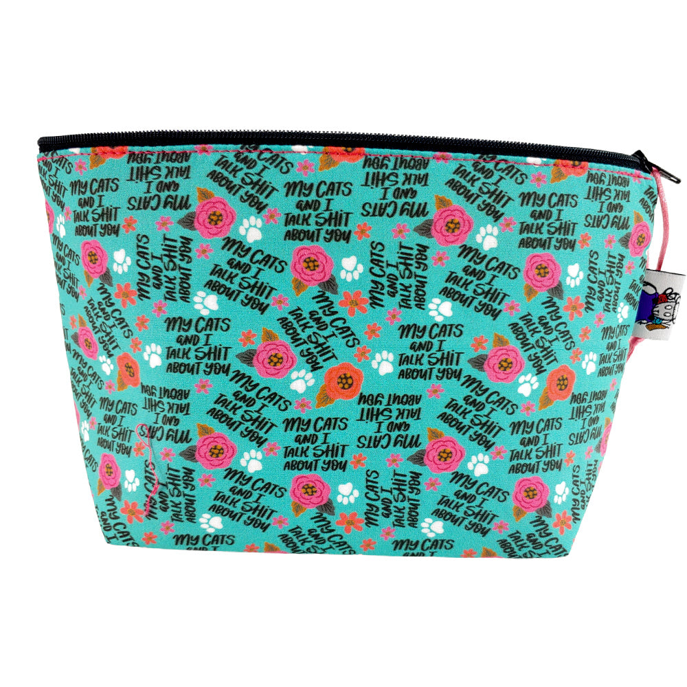 My Cats and I Talk </br> Zipper Notion Pouch
