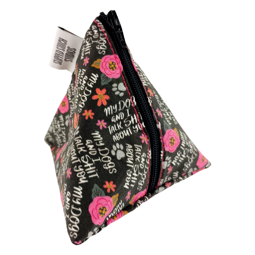 My Dogs and I Talk </br> Triangle Zipper Notion Pouch