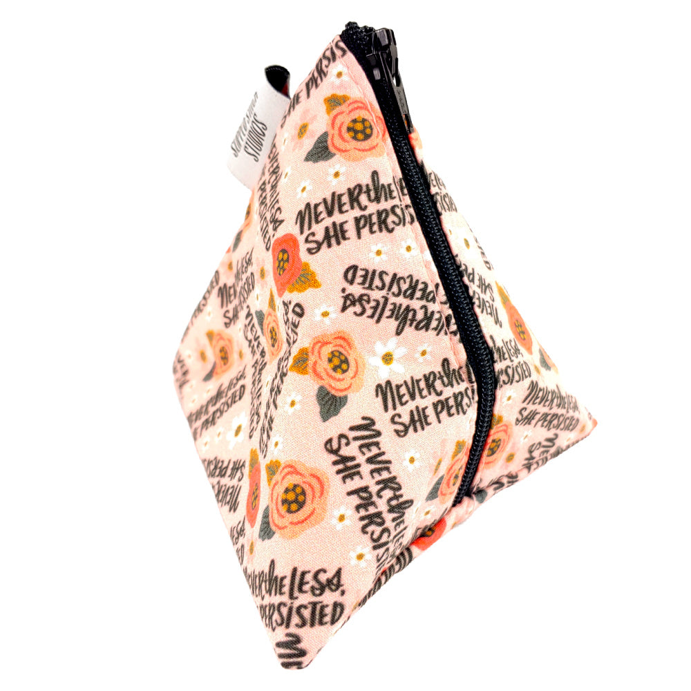 Nevertheless She Persisted </br> Triangle Zipper Notion Pouch