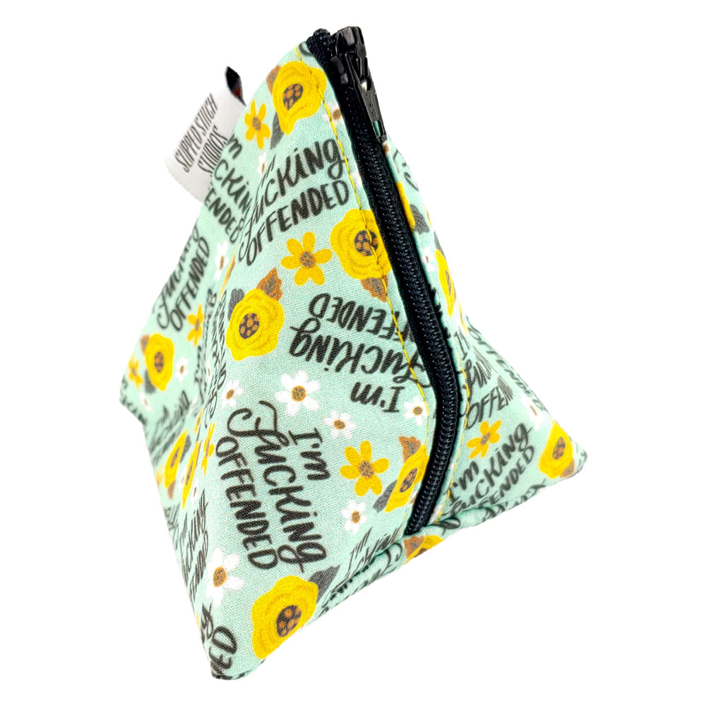I'm F*ing Offended </br> Triangle Zipper Notion Pouch