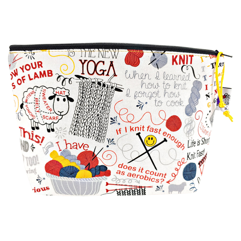 All this and I knit too! </br> Zipper Notion Pouch