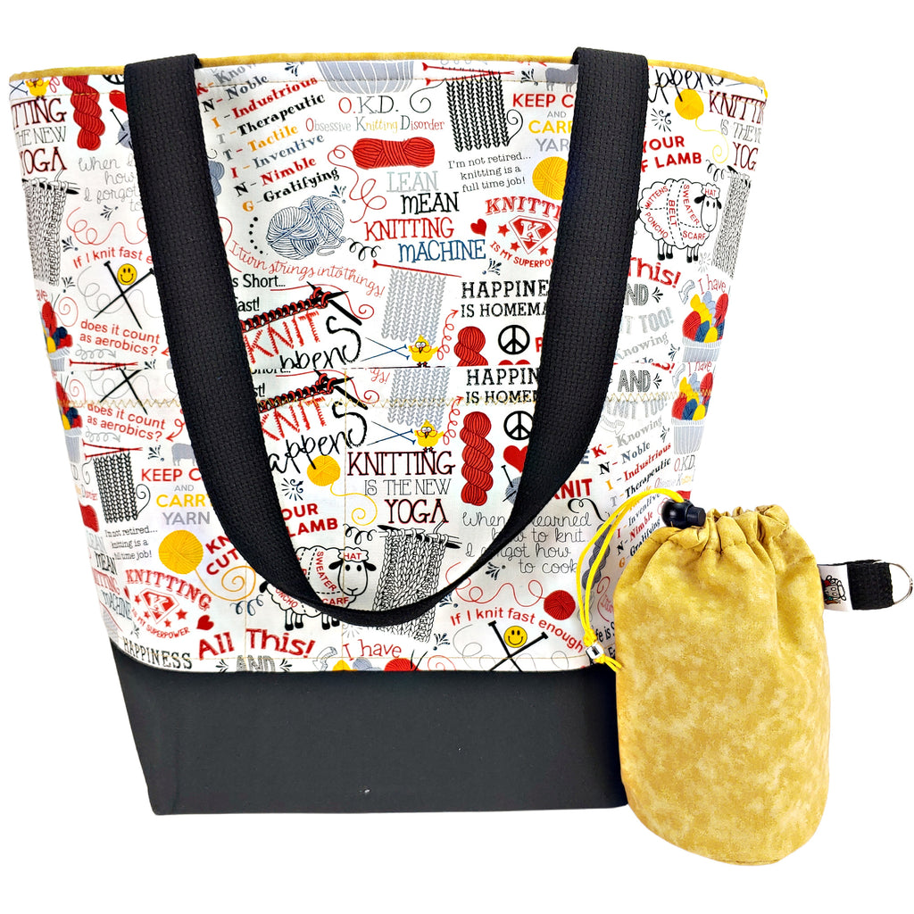 All this and I knit too! </br> XL Project Bag </br> Studio Tote & Tot