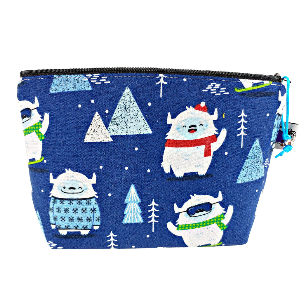 New Year, New Yeti (Flannel) </br> Zipper Notion Pouch